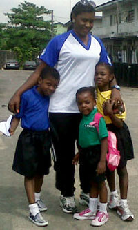 Hadiza and kids
