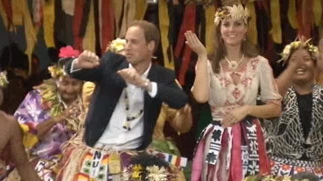 Prince William and Kate at Tuvalu