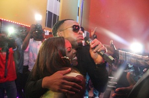Flavour and Tiwa Savage at the Grand Opening