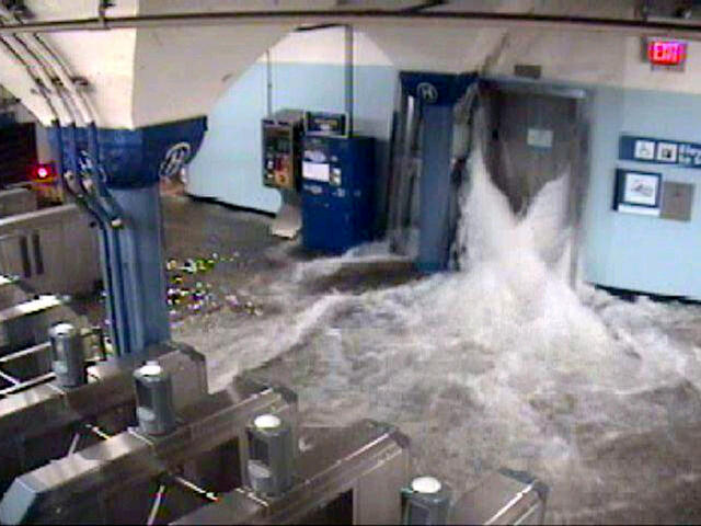 Flooded Subway in NYC