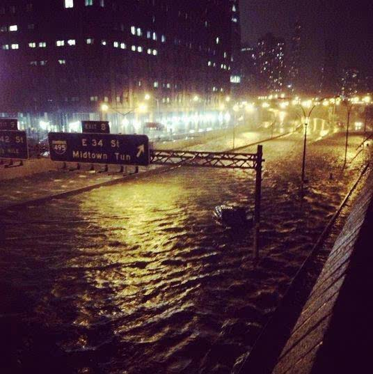 Midtown Tunnel Flooded