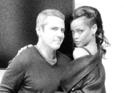 Rihanna and Andy Cohen